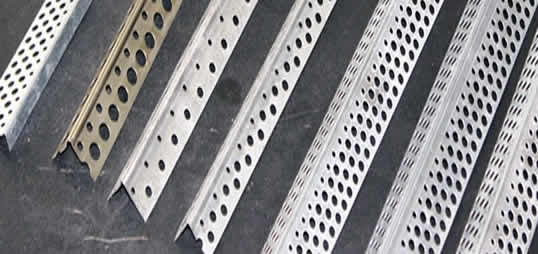 Stainless Steel Corner Bead : Perforated round hole corner beads for stucco wall